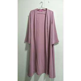 🚚 Full-Length Pink Abaya Cardigan (2ndhand)