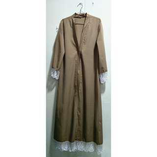 🚚 Sandy Brown Full-Length Abaya Cardigan (2ndhand)
