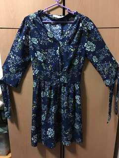 Floral Dress - Midnight Blue