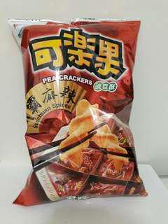 🚚 聯華食品 豌豆酥可樂果 川霸麻辣口味 加大 家庭量販包220公克
