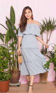 Merislyn Dress in Blue stripes