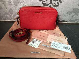 9987a21bec4a Miu Miu Sling   Crossbody Bag (Fuoco- Red)