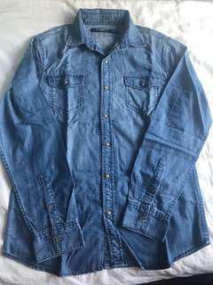 Giordano Long sleeves Denim Shirt