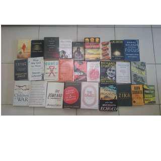 Obral 36 Judul Buku Import Hardcover Dan Softcover