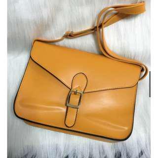 Mustard Satchel Sling Bag