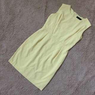 🚚 Pale Yellow Work Dress