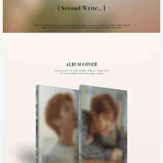 [Preorder]  Nam Woo Hyun (Infinite) -2nd Mini Album [ Second Write]