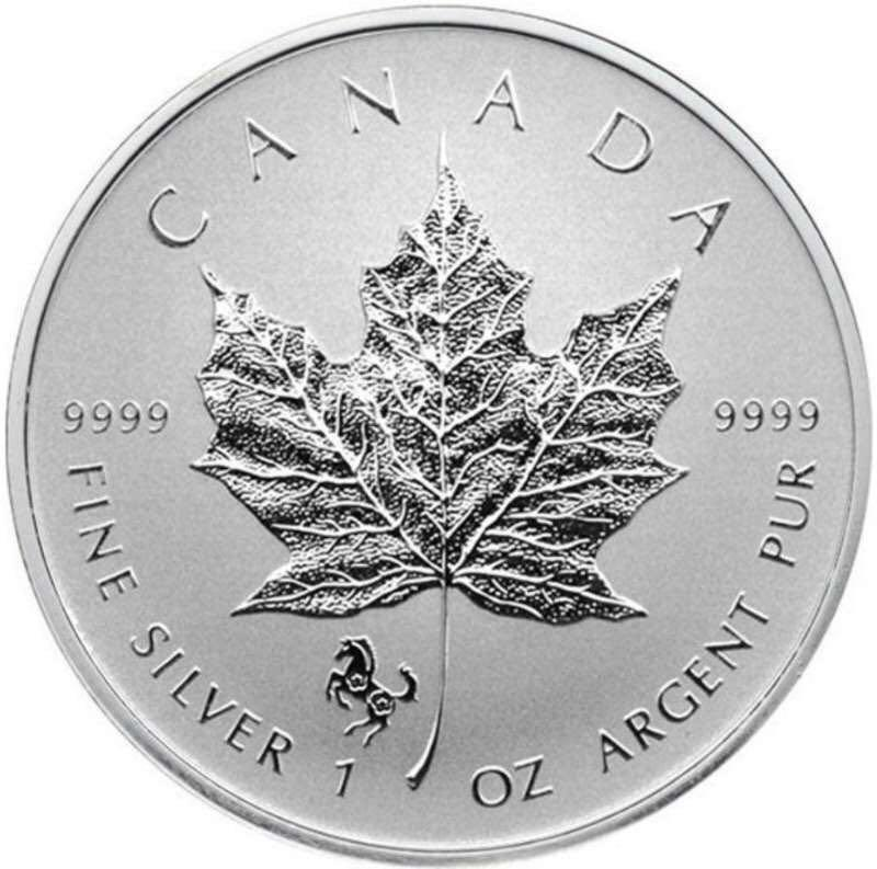 2014 Canada Silver Maple Leaf 1onz 99.99% Silver Coin