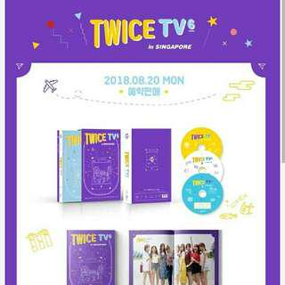 [Preorder] Twice -Twice TV6 :[Twice In Singapore]