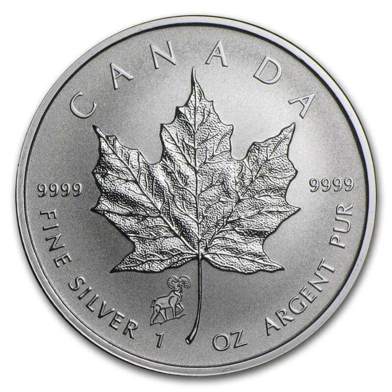 2016 Canada Silver Maple Leaf 1onz 99.99% Silver Coin