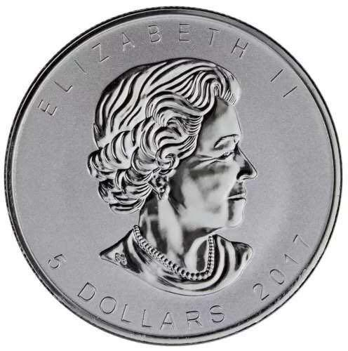 加拿大2017年1盎司99.99%银枫木硬币