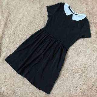 🚚 Black Collar Dress