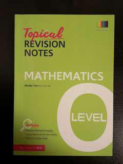 Topical revision notes mathematics o level
