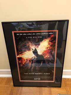 BATMAN movie poster black metal frame