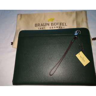 BNIB Genuine Braun Buffel Morrison Document Holder - Green