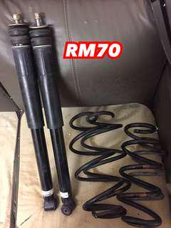 SPRING ORI + SHOWA ABSOBER HONDA JAZZ GD