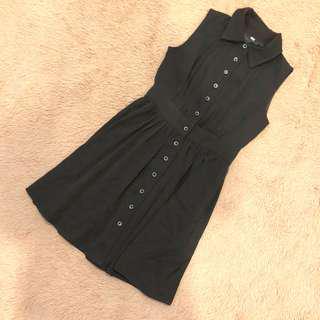 🚚 Black Button Dress