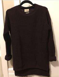 Wilfred Free Isabelli Sweater in Dark Purple (Size S)