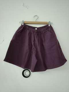 🚚 超大碼 森林系 深紫色 短褲