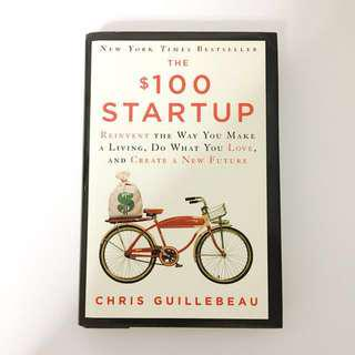 The $100 startup hardcover Chris guillebeau book