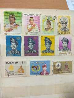 Stamps: Malaysia Kings