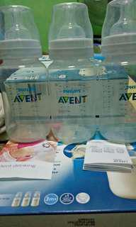 Authentic avent anti colic classic bottles