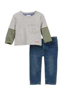 HUDSON Kids Jeans 2-Piece Reverse French Terry Pullover Set (Baby Boys) :: 18M