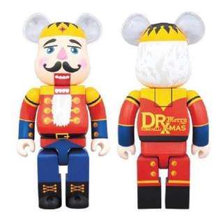 胡桃夾子 Bearbrick 1000% 全新未開 在啡盒及彩盒 購自頑童玩具