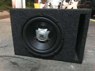 "JBL 10"" 低音喇叭連音箱+ Kenwood KAC-6203 2路 Amp"