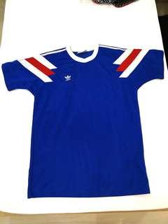 Unisex Adidas Blue Red Shirt