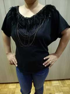 50% off! [Pre-loved] Stylish black blouse