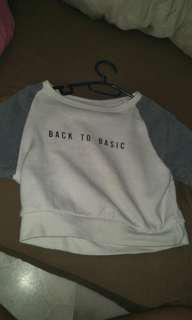 back to basic crop top sweater