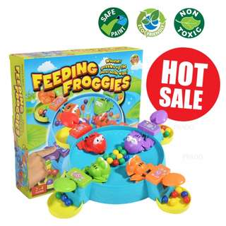 Feeding Froggies Ball Frog Multi Player Family Board Game Fun Toy