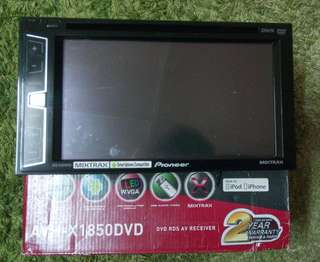 pioneer 1850dvd built in dsp car head unit