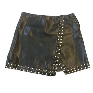 A.S.O.P Faux Leather Skirt