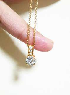 Gold Plated Diamond Necklace