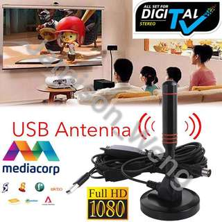 🚚 High Performance DVB-T2 Antenna With USB Amplifier for Stronger Signal MediaCorp DVB-T2 Antenna / Solid aluminium core for maximum signal strength / DVB-T2 & DVBT-HD / digital ready / Magnetic base & 5 m cable / for all DVB-T devices