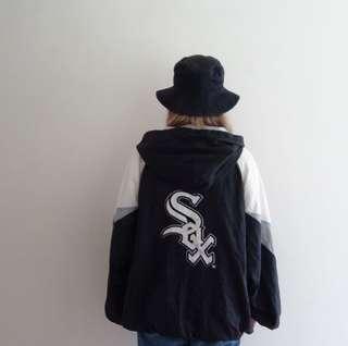 🚚 MLB芝加哥白襪隊風衣外套🔥任選兩件折150💵古著vintage🔥