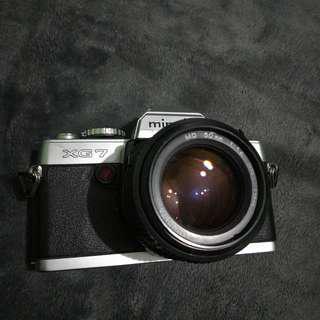 Minolta XG7 with 50mm f 1.4 MD