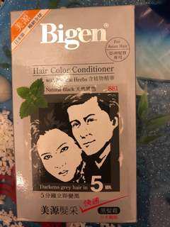 美源髮采 天然黑色 hair colour conditioner Bigen