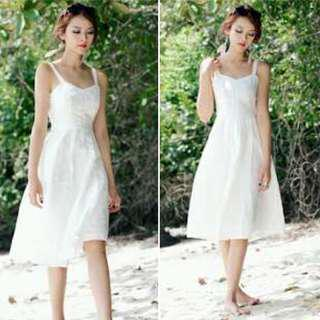 BRIDGE by FashMob *SG White Embroidered Dress (NEW with TAG)