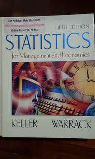Statistics for Mgt and Economics (Keller & Warrack)