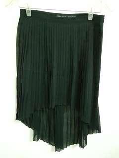 ZARA Asymmetric Black Skirt
