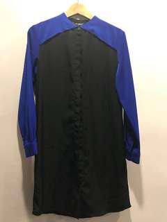 🌼Black blue Long sleeve dress