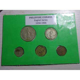 Philippines - Philippine Coinage English Series Type Set