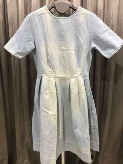 Bleached Denim Dress