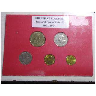 Philippines - Philippine Coinage Flora and fauna series 2 type set