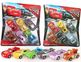 🚚 Pixar Car 6-in1 McQueen Pull Back Racing Cars Toy