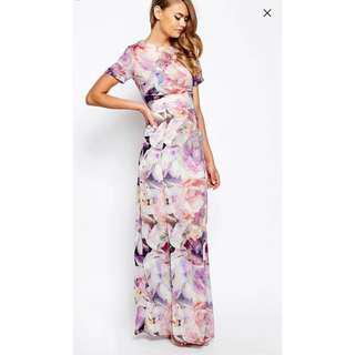 Asos True Violet Floral Dress