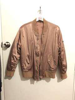Dusty pink bomber jacket